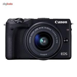 دوربین دیجیتال بدون آینه کانن مدل EOS M3 به همراه لنز 15-45 میلی متر EF-M  Canon EOS M3 Mirrorless