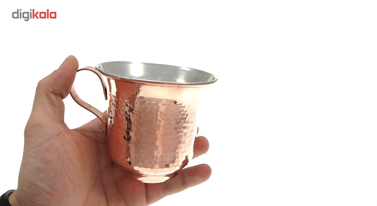خرید                      فنجان مسی شفق زنجان کد 1606 سایز متوسط