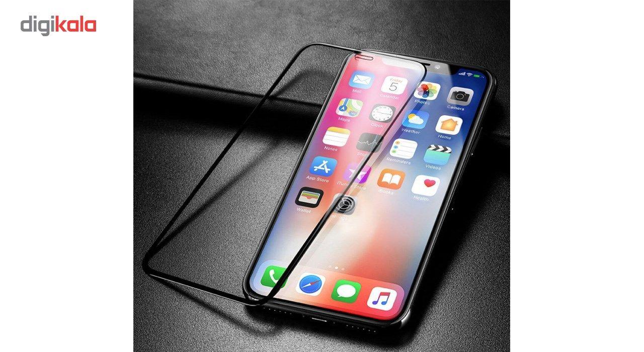محافظ صفحه نمایش و لنز تمام چسب شیشه ای پیکسی مدل 5D  مناسب برای گوشی اپل آیفون X main 1 11