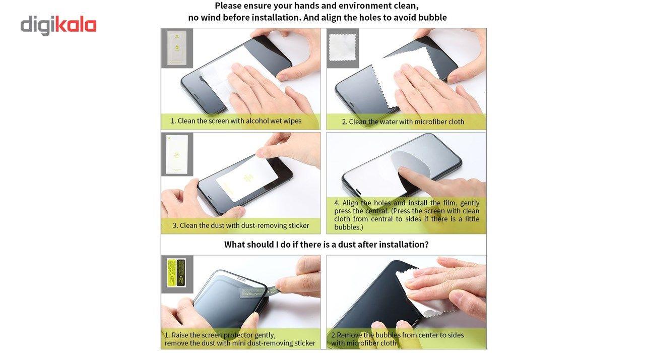 محافظ صفحه نمایش و لنز تمام چسب شیشه ای پیکسی مدل 5D  مناسب برای گوشی اپل آیفون X main 1 14