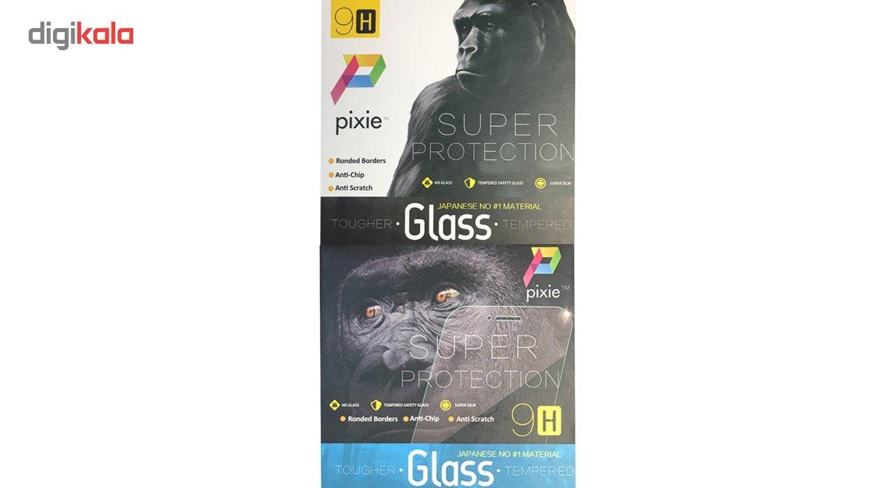 محافظ صفحه نمایش و لنز تمام چسب شیشه ای پیکسی مدل 5D  مناسب برای گوشی اپل آیفون X main 1 16