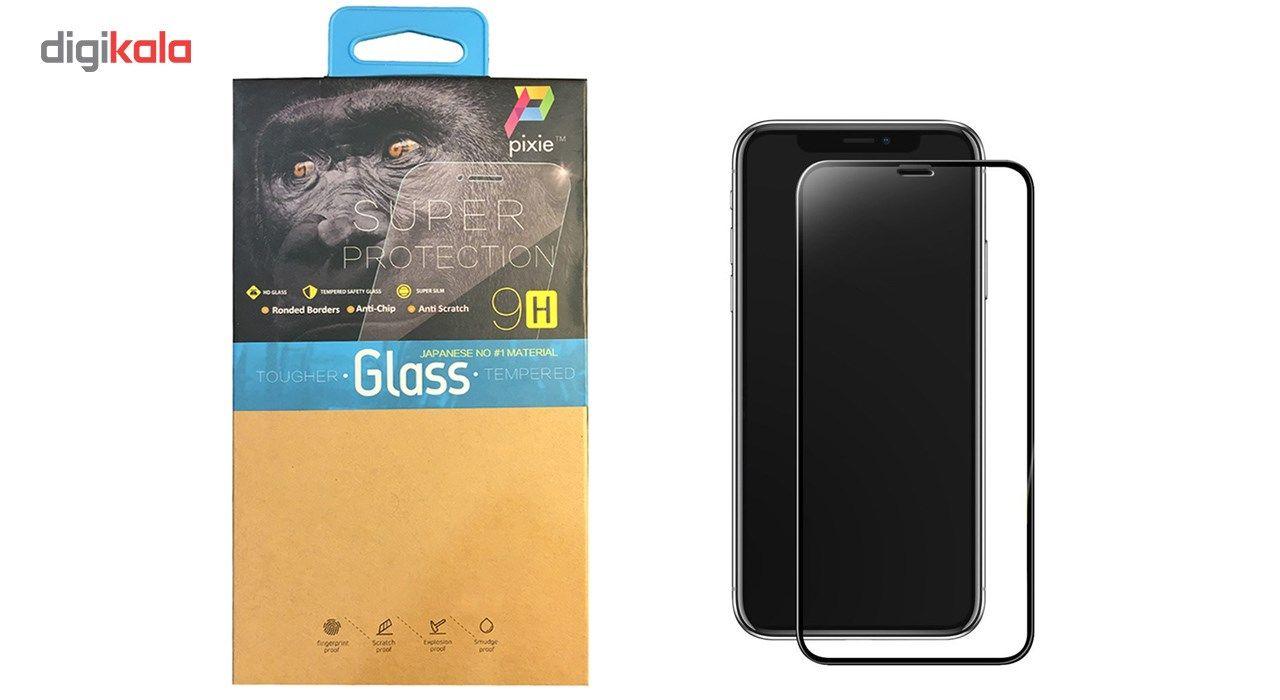محافظ صفحه نمایش و لنز تمام چسب شیشه ای پیکسی مدل 5D  مناسب برای گوشی اپل آیفون X main 1 17