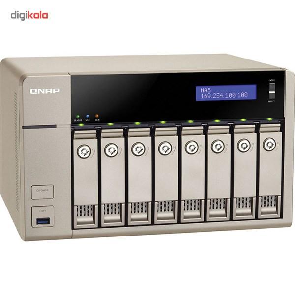 ذخیره ساز تحت شبکه کیونپ مدل TVS-863 Plus 16G بدون دیسک