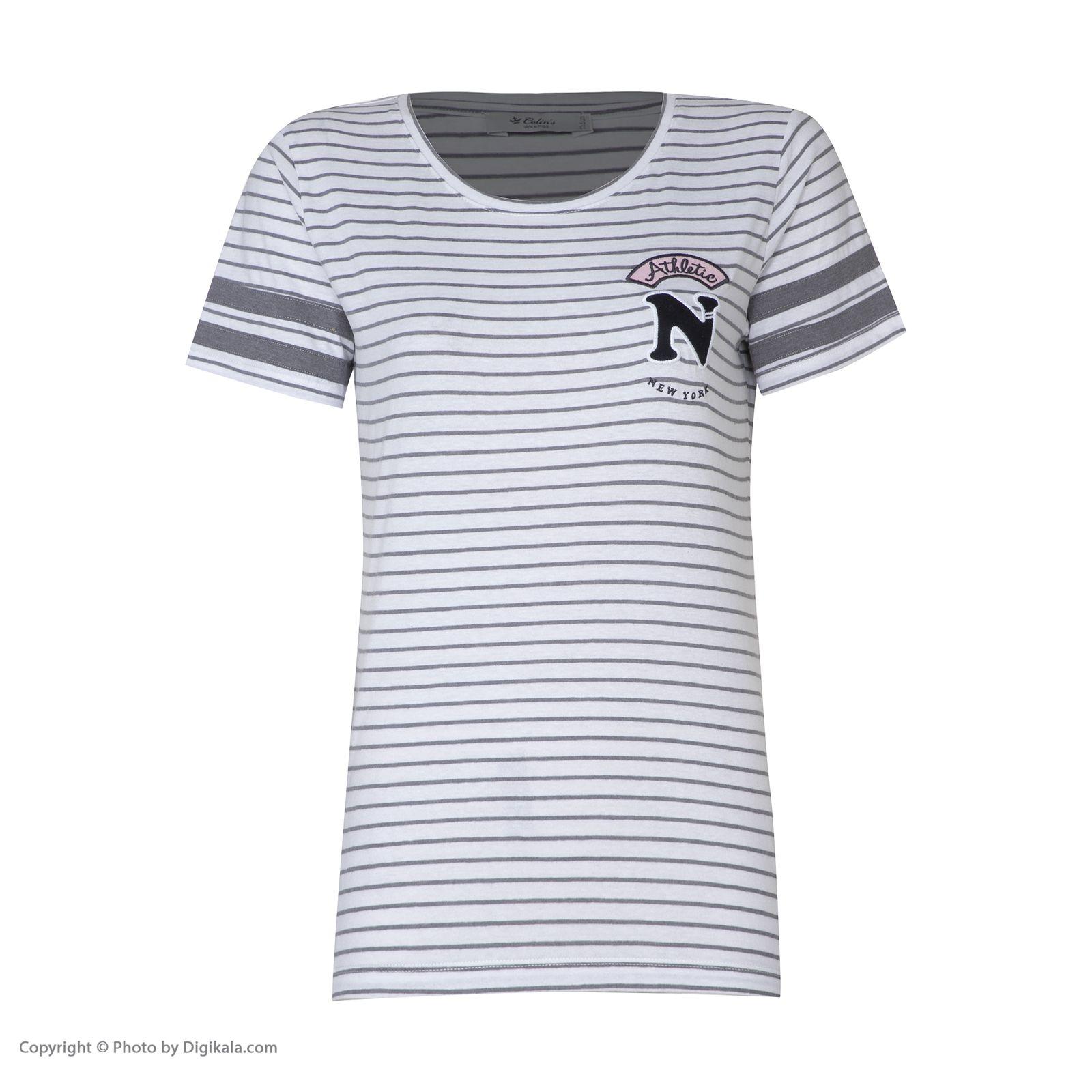 تی شرت زنانه کالینز مدل CL1032849-GREYMELANGE main 1 1