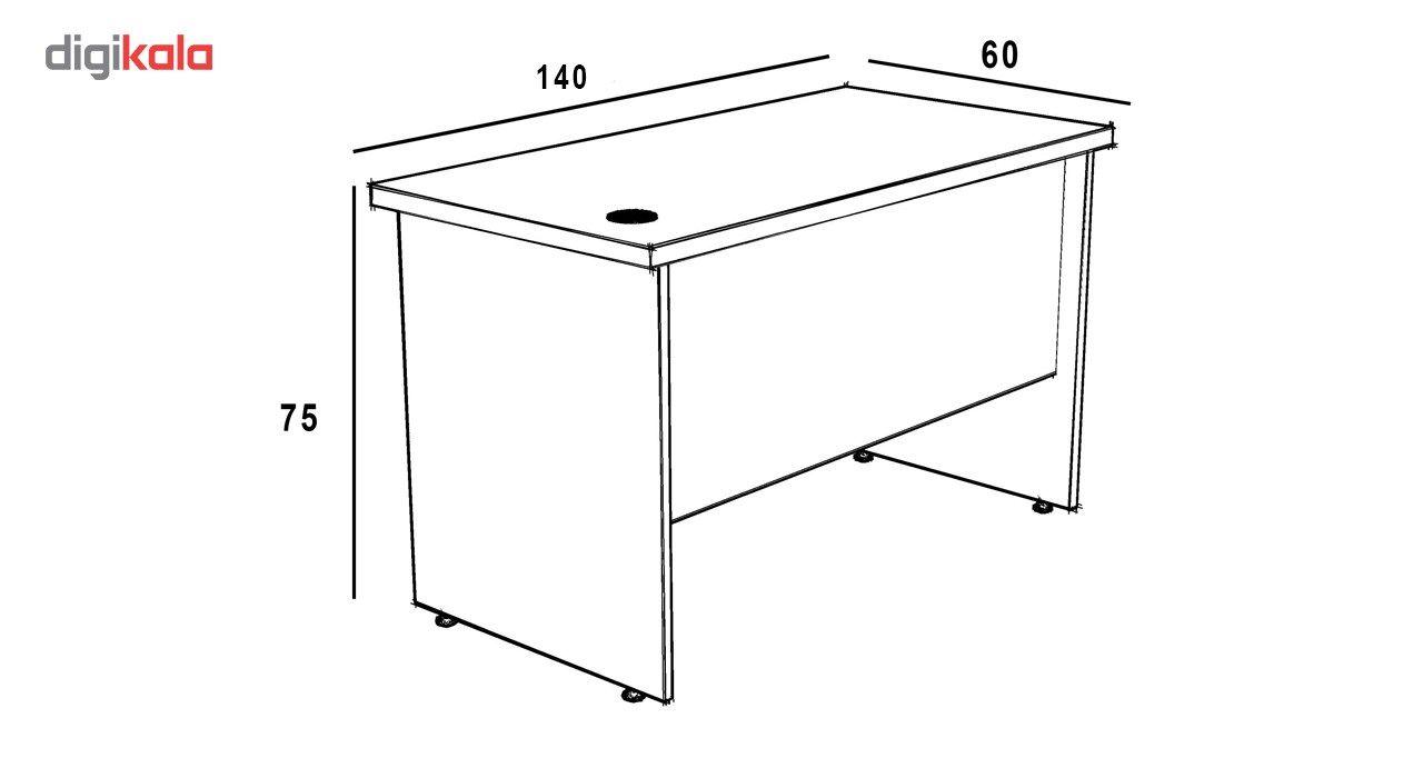 میز اداری سازینه چوب سری کارو مدل S-T140