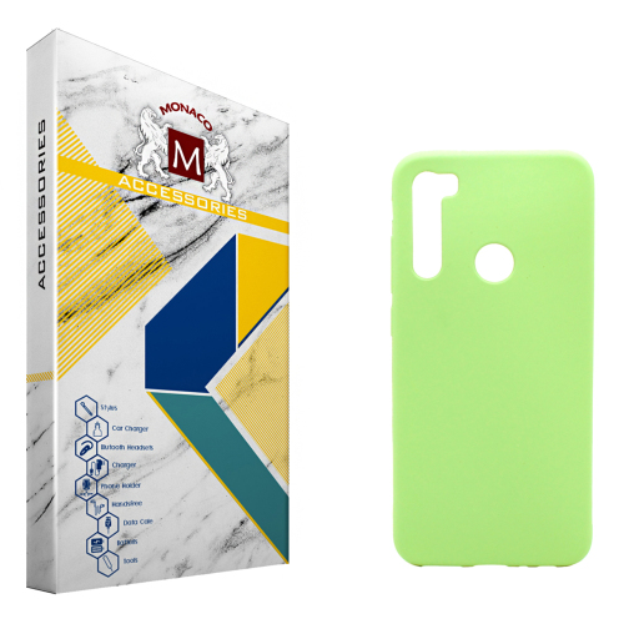 کاور موناکو مدل Sn273 مناسب برای گوشی موبایل شیائومی Redmi Note 8 به همراه 2 عدد محافظ صفحه نمایش