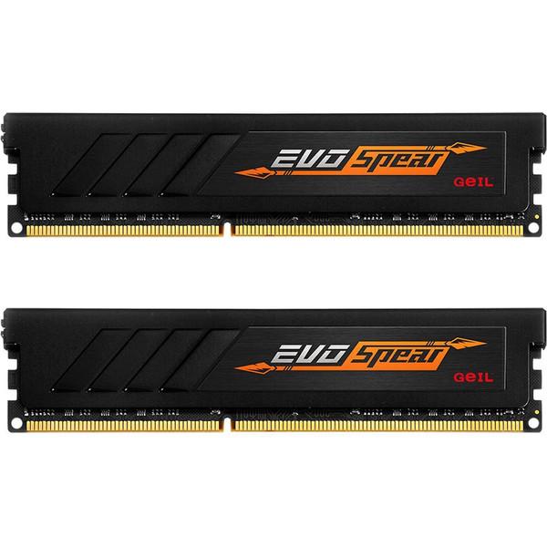 رم دسکتاپ DDR4 دو کاناله 2400 مگاهرتز CL17 گیل مدل Evo SPEAR ظرفیت 16 گیگابایت