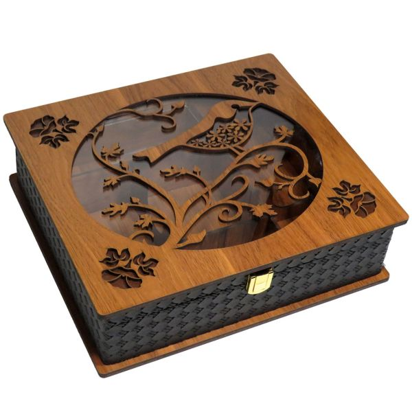 جعبه چایی کیسه ای و دمنوش  لوکس باکس  کد LB58