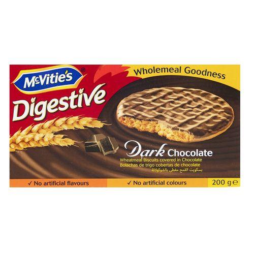 بیسکوییت دایجستیو با روکش شکلات تلخ مک ویتیز مقدار 200 گرم