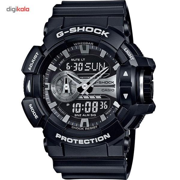 خرید ساعت مچی عقربه ای مردانه کاسیو جی شاک مدل GA-400GB-1ADR