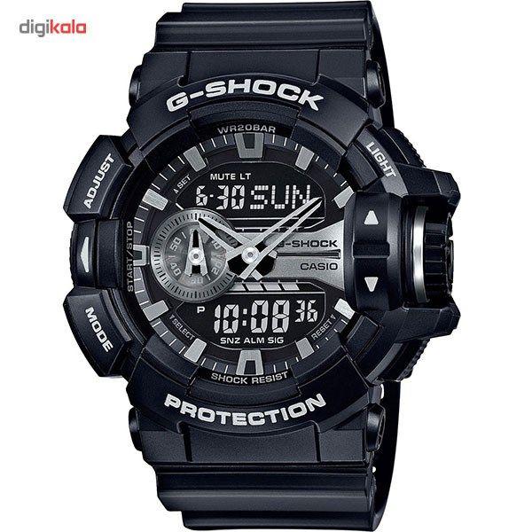 ساعت مچی عقربه ای مردانه کاسیو جی شاک مدل GA-400GB-1ADR -  - 1