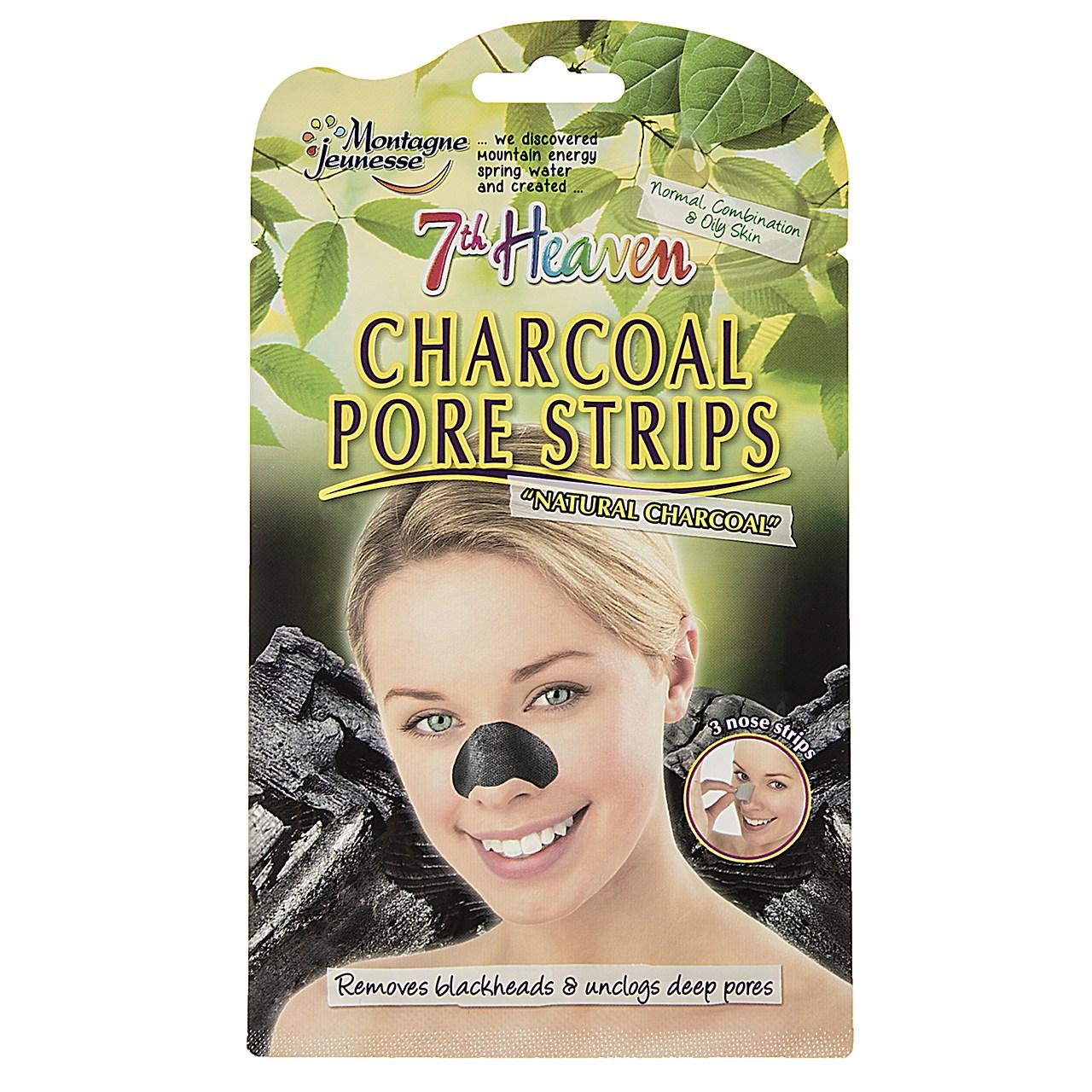 ماسک پاک کننده بینی مونته ژنه سری 7th Heaven مدل Charcoal - سه ورق