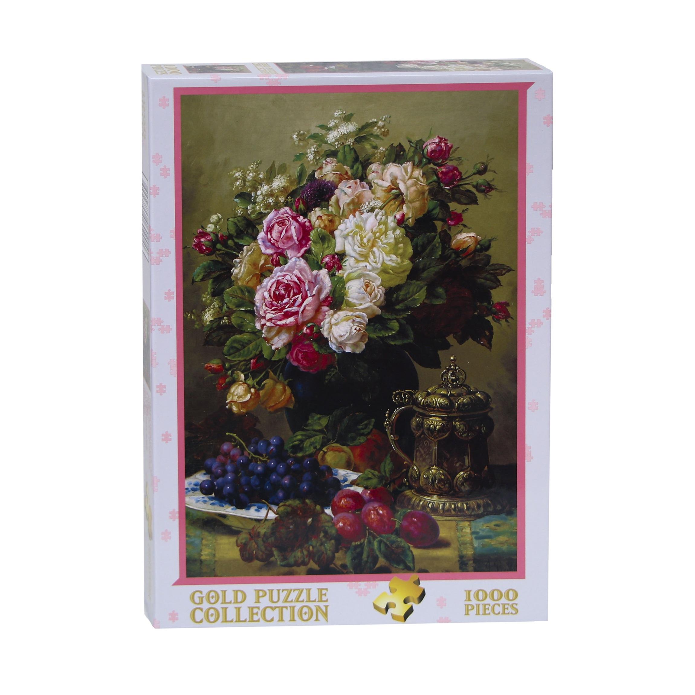 پازل 1000 تکه گلد پازل طرح گل های رز کد 60904