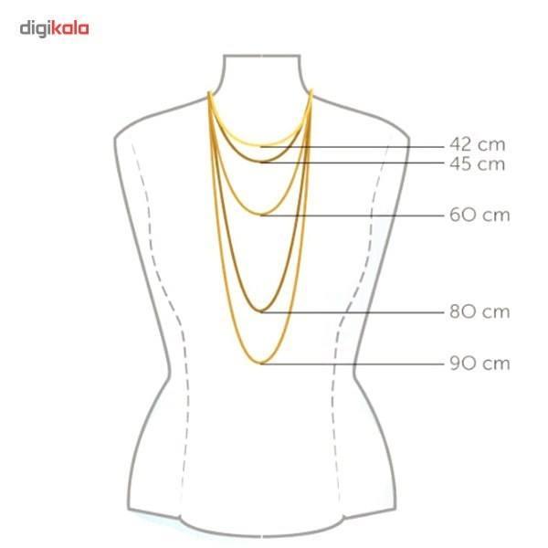 گردنبند طلا 18 عیار ماهک مدل MM0377 -  - 2