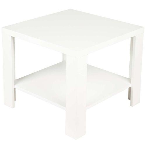 میز کنار مبل DND مدل کن- سفید -  ابعاد 54x 54 x 47 سانتی متر
