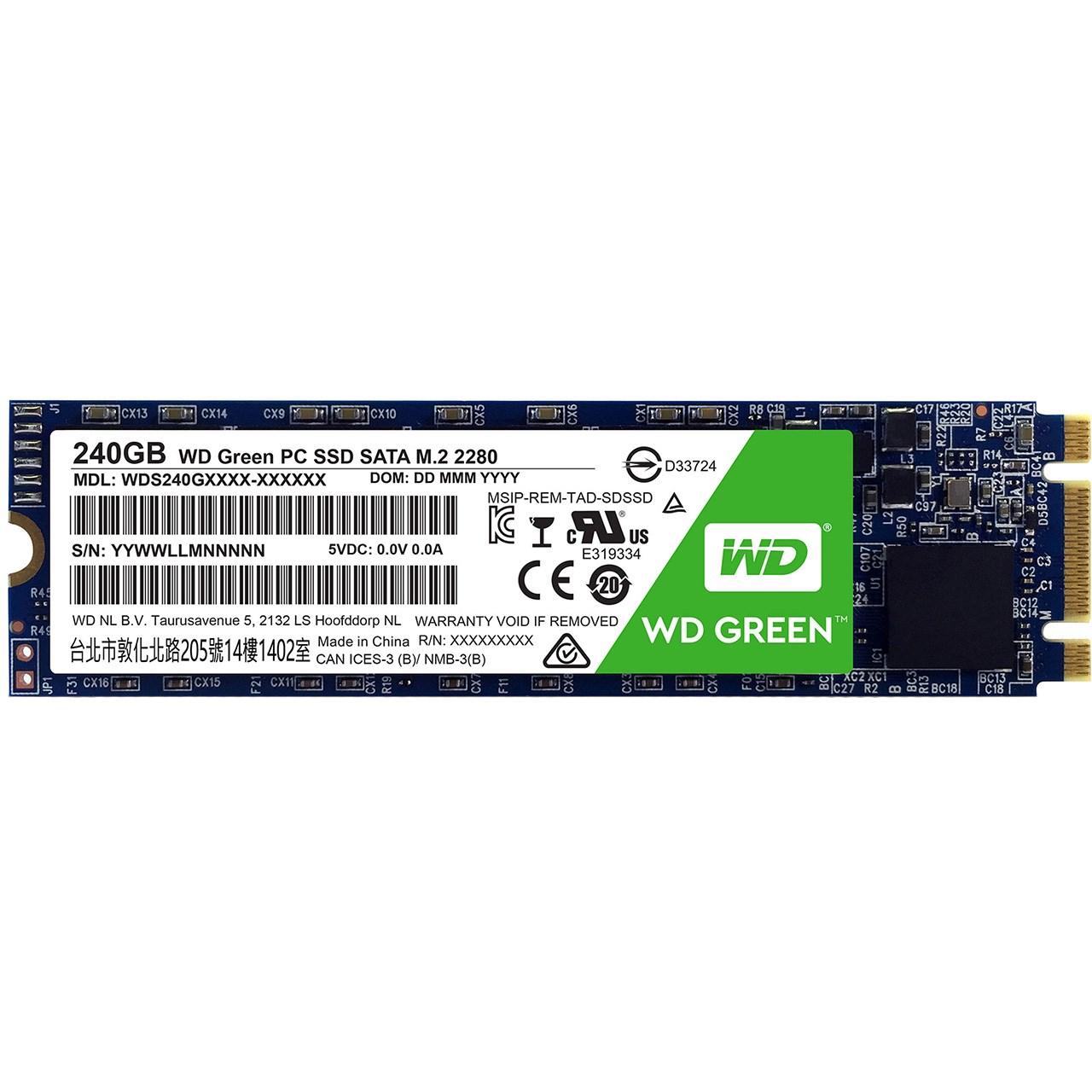 حافظه SSD وسترن دیجیتال مدل GREEN WDS240G1G0B ظرفیت 240 گیگابایت