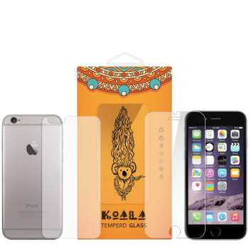 محافظ صفحه نمایش شیشه ای Tempered و پشت شیشه ای Tempered کوالا مناسب برای گوشی موبایل اپل آیفون 6Plus/6S Plus