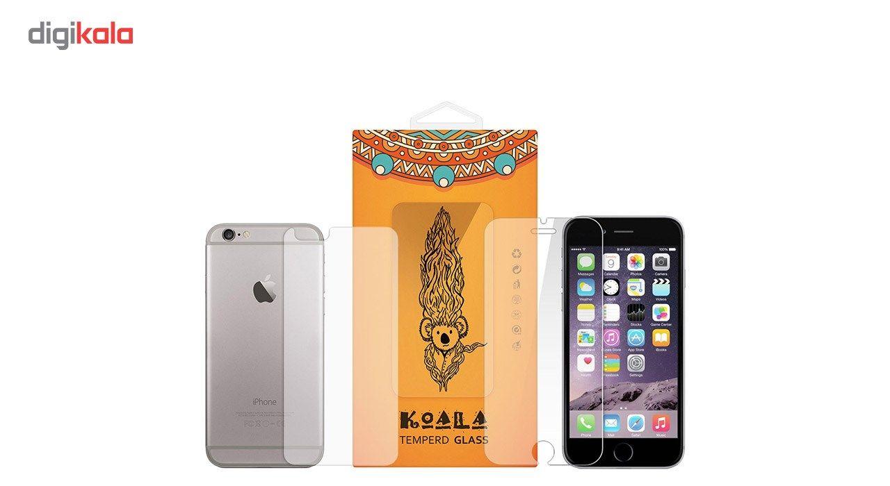 محافظ صفحه نمایش شیشه ای Tempered و پشت شیشه ای Tempered کوالا مناسب برای گوشی موبایل اپل آیفون 6Plus/6S Plus main 1 1