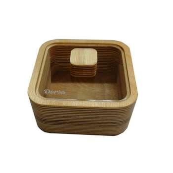 قندان چوبی دُرسا مدل مربع کد 2205