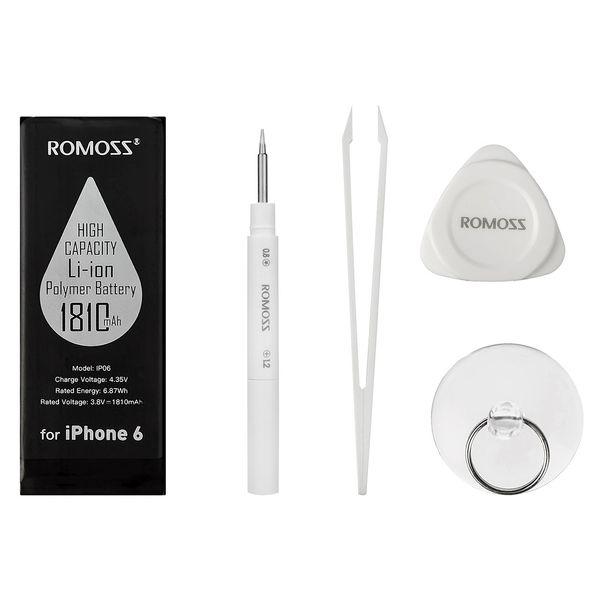 باتری موبایل روموس مدل IP06 با ظرفیت 1810mAh مناسب برای گوشی موبایل آیفون 6
