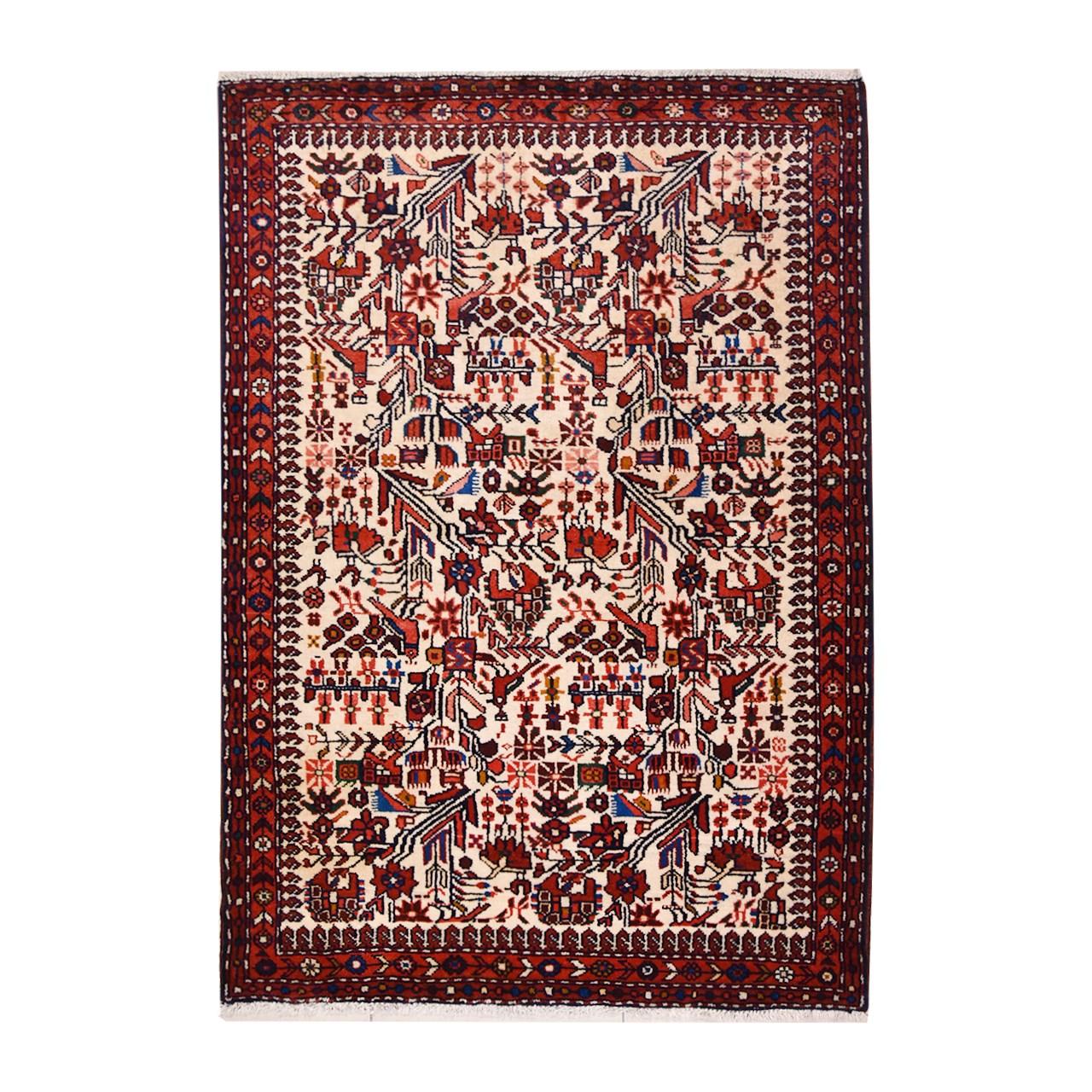 فرش دستبافت ذرع و نیم گالری نور کد H1422