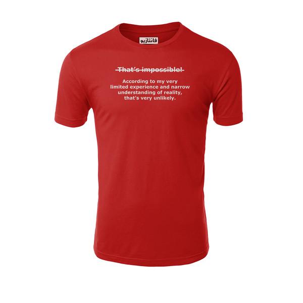 تیشرت آستین کوتاه مردانه فانتازیو مدل 261 طرح Impossible کد SBM100