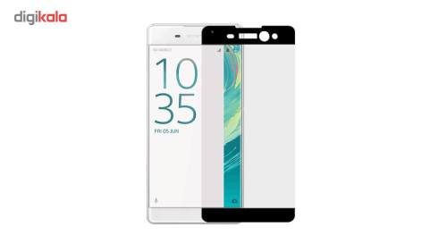 محافظ صفحه نمایش شیشه ای تمپرد مدل Full Cover مناسب برایگوشی موبایل  سونی Xperia XA Ultra