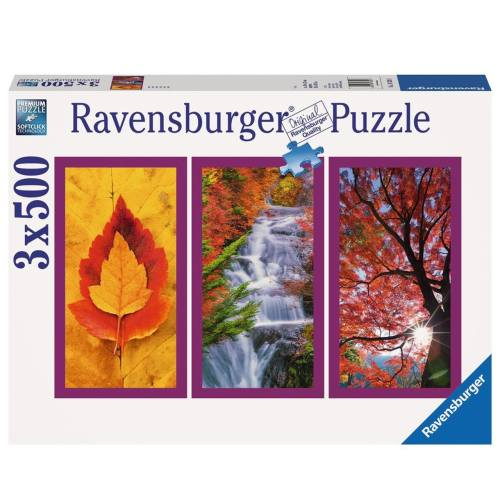 پازل 1500 تکه راونزبرگر مدل Autumn Impressions 3 x 500