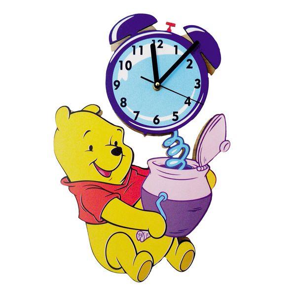 ساعت دیواری کودک جیک جیک مدل خرس پو