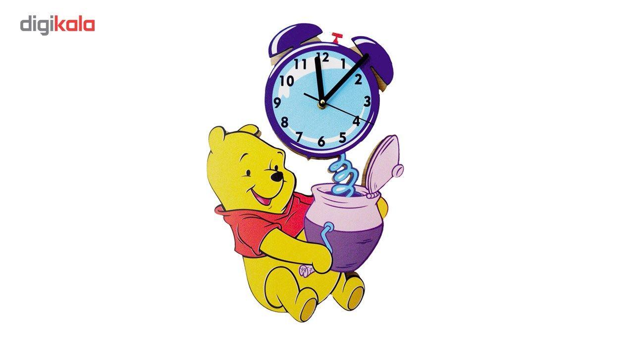 ساعت دیواری کودک جیک جیک مدل خرس پو main 1 1