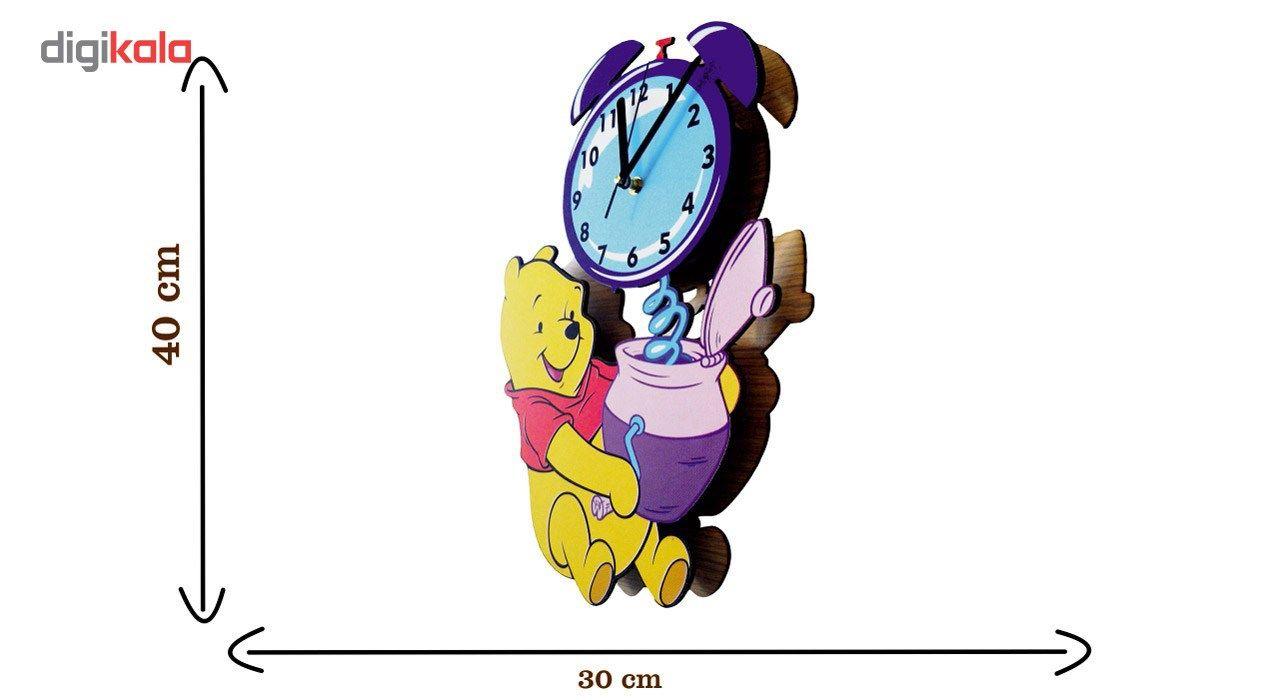 ساعت دیواری کودک جیک جیک مدل خرس پو main 1 2