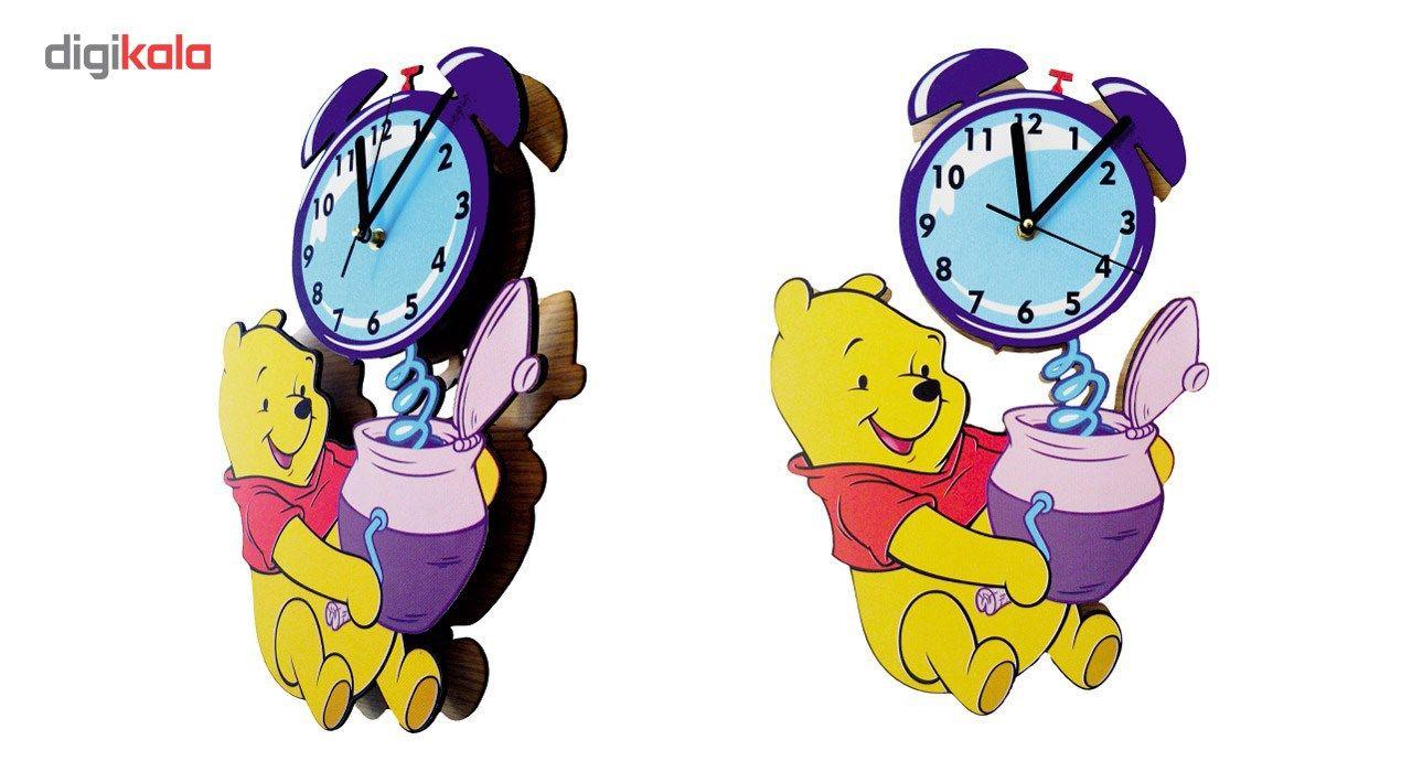 ساعت دیواری کودک جیک جیک مدل خرس پو main 1 3