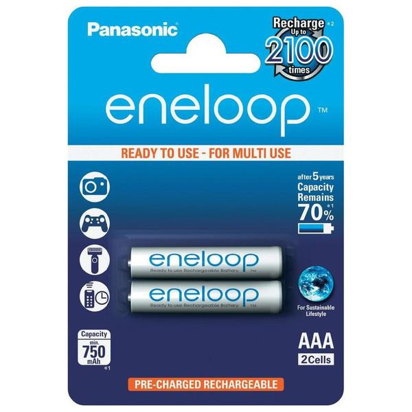 باتری نیم قلمی پاناسونیک مدل Eneloop بسته 2 عددی