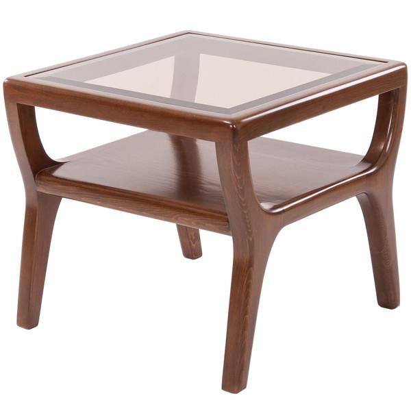میز عسلی نیک آذین مدل جنوا صفحه شیشه ای