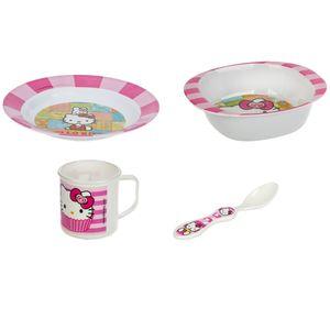 ست 4 تکه غذاخوری کودک بلو بیبی مدل Hello Kitty
