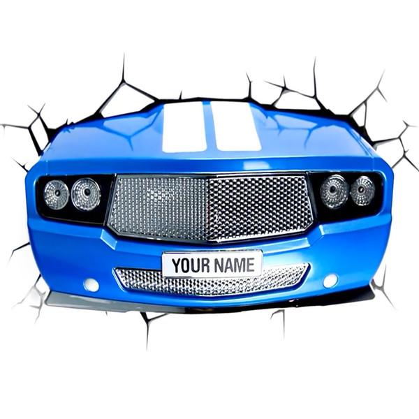 چراغ دیواری تری دی لایت اف ایکس مدل Blue Car