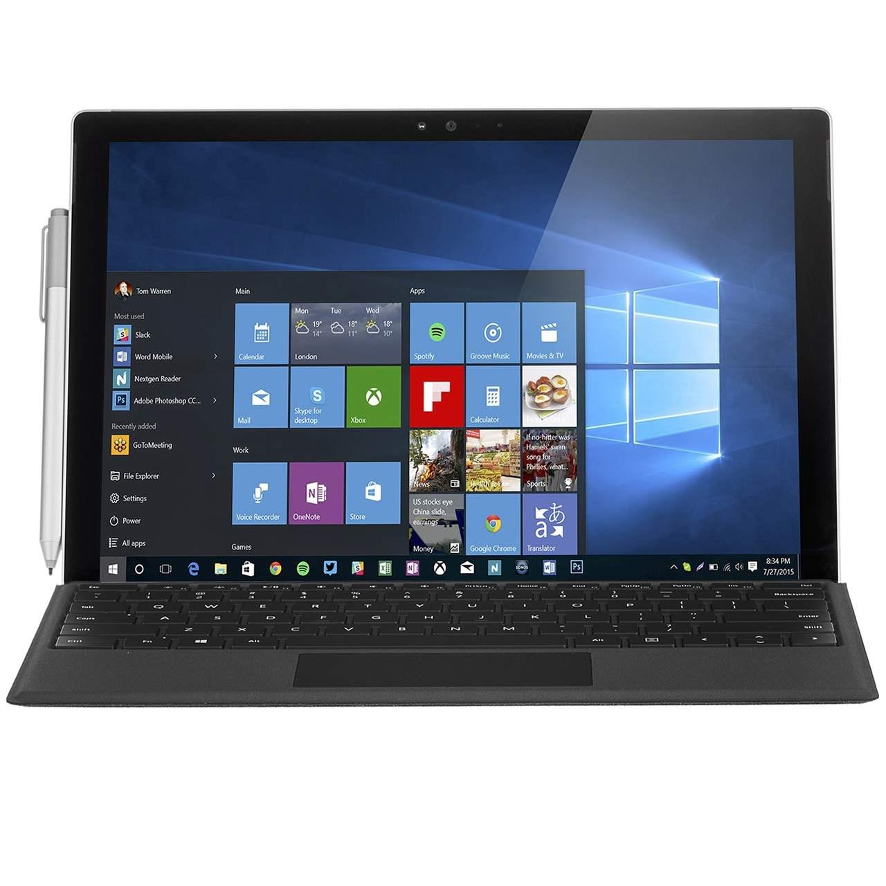 تبلت مایکروسافت مدل Surface Pro 4 - A به همراه کیبورد Type Cover و کاور Executive Sleeve