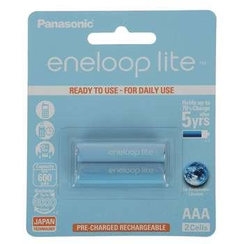 باتری نیم قلمی پاناسونیک مدل Eneloop Lite بسته 2 عددی