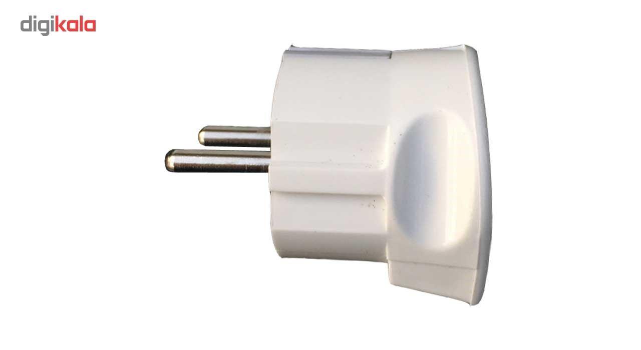 دوشاخه برق اخگر الکتریک مدل ارت دار بسته دو عددی main 1 1