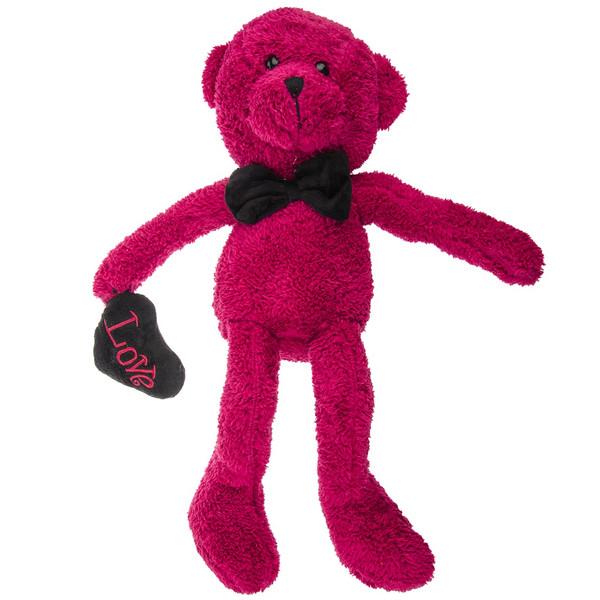 عروسک پالیز مدل Rouged Bear With Black Heart ارتفاع 50 سانتیمتر