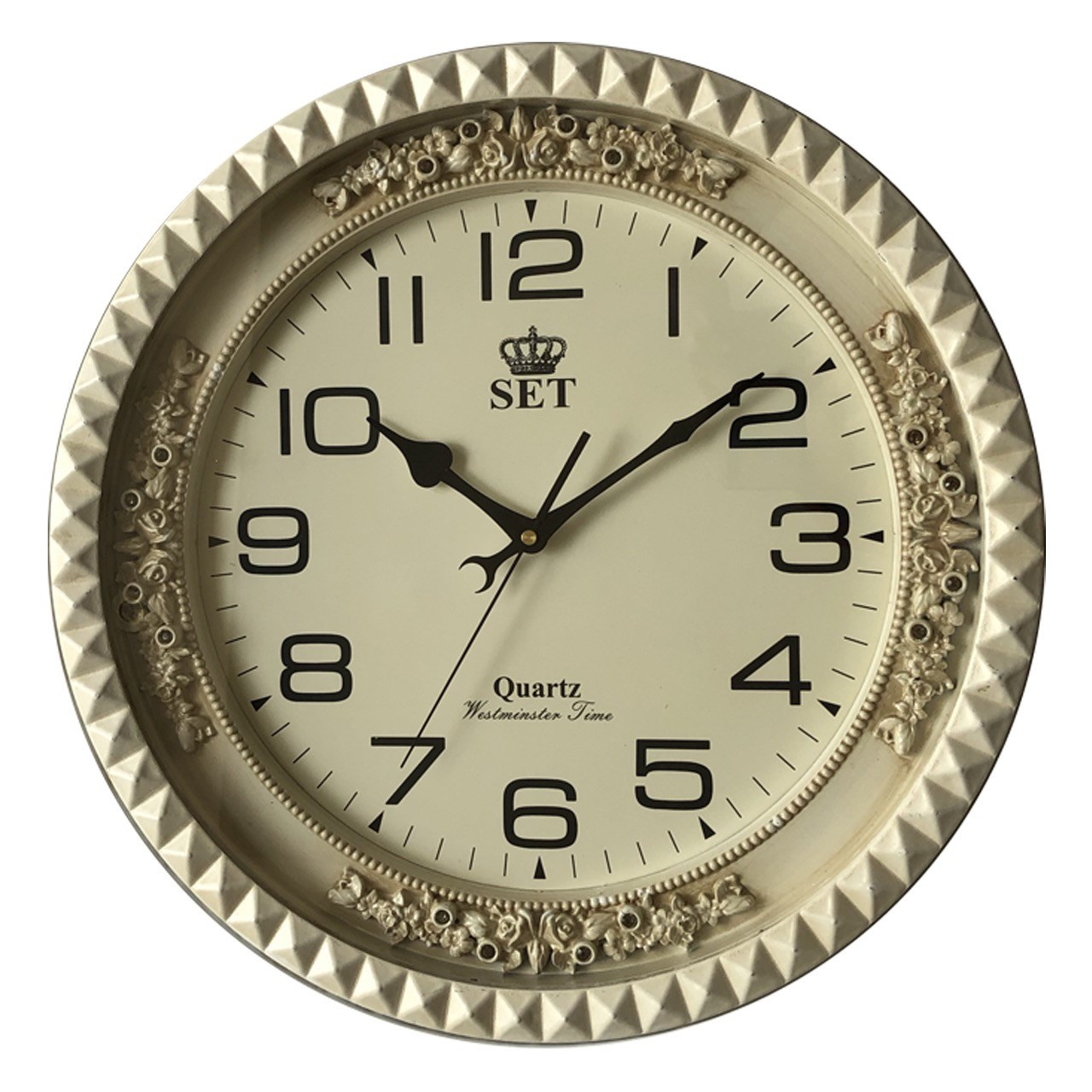 ساعت دیواری ست مدل نگین دار 01