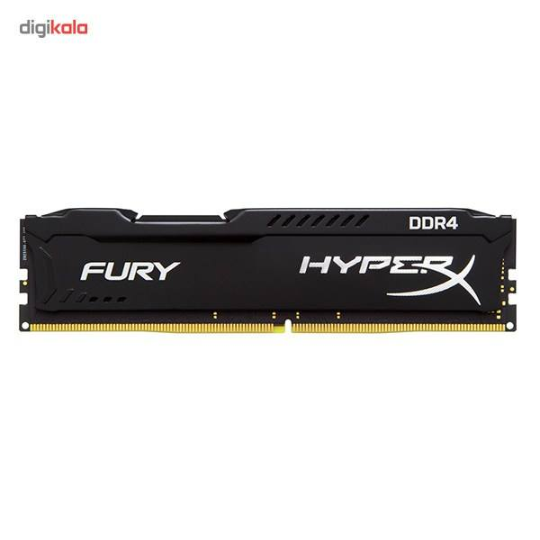 رم کامپیوتر کینگستون مدل HyperX Fury DDR4 2400MHz CL15 ظرفیت 4 گیگابایت main 1 1