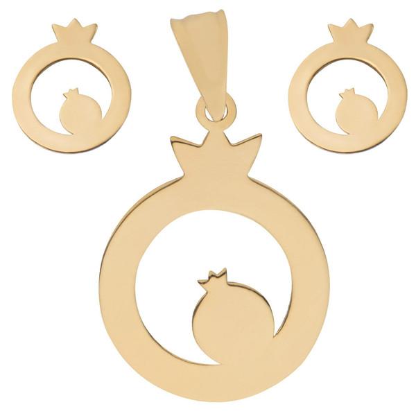 نیم ست طلا 18 عیار ماهک مدل MS0014 - مایا ماهک
