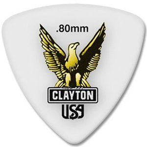 پیک گیتار الکتریک کلایتون مدل Acetal 0.80 mm طرح سهگوش
