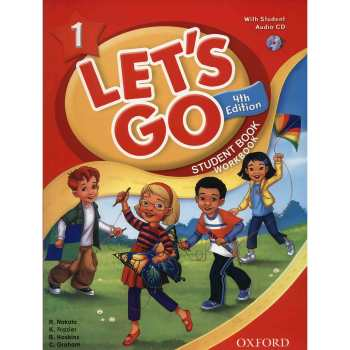 کتاب زبان Lets Go 1 - Student  Book + Workbook - 4th Edition