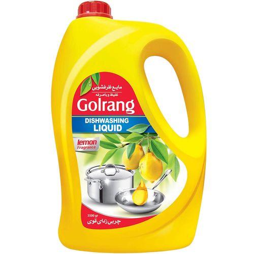 مایع ظرفشویی گلرنگ مدل Lemon مقدار 3500 گرم