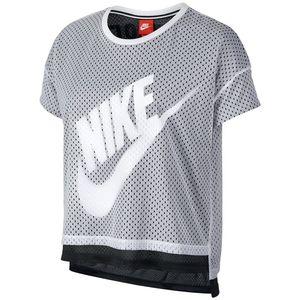 تی شرت زنانه نایکی مدل Mesh Crop