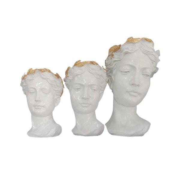 گلدان دکوری مدل رومی مجموعه 3 عددی