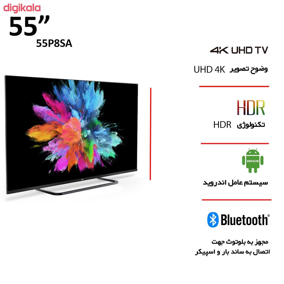 تلویزیون ال ای دی هوشمند تی سی ال مدل 55P8SA سایز 55 اینچ main 1 4