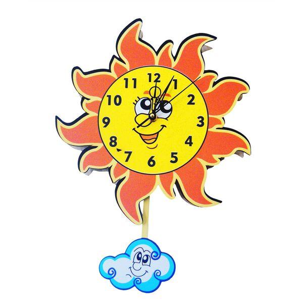 ساعت دیواری کودک جیک جیک مدل خورشید خانوم